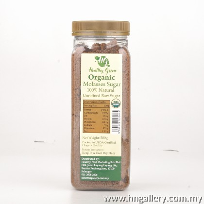 Healthy Green Organic Molasses Sugar 500g