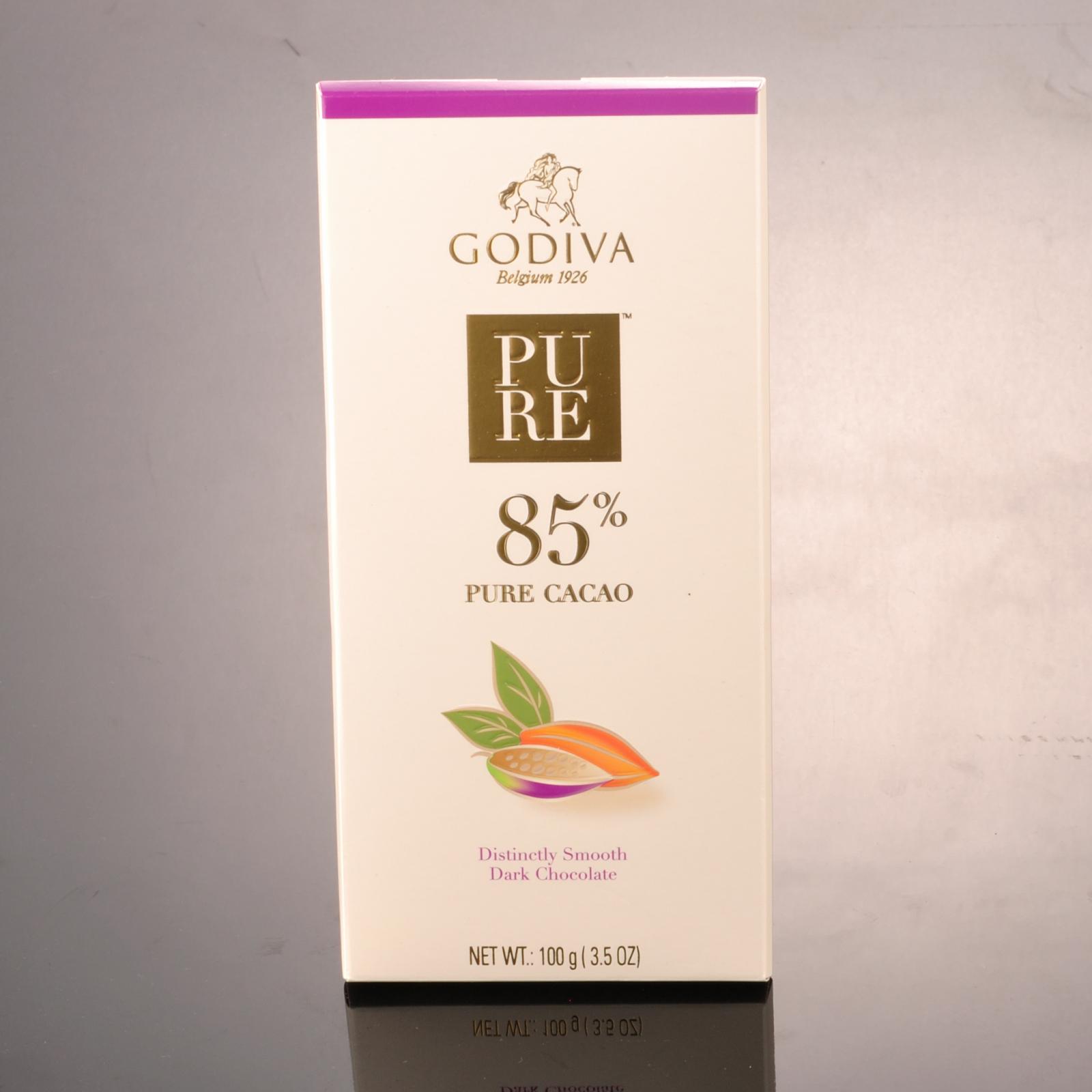Godiva Pure 85% Distinctly Smooth Dark Chocolate Bar