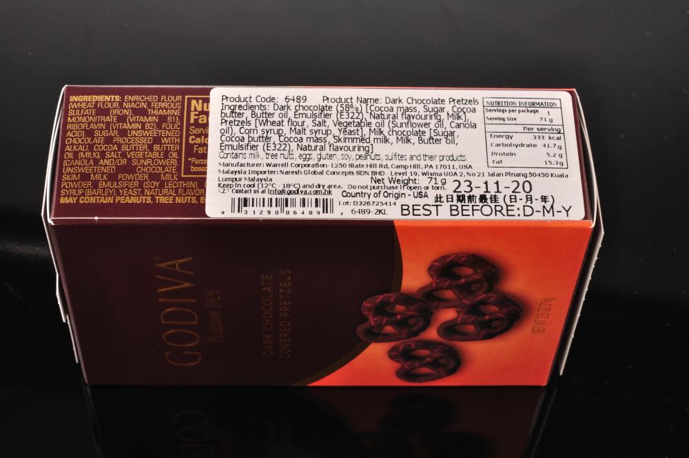 Godiva Dark Chocolate Covered Pretzels 71g