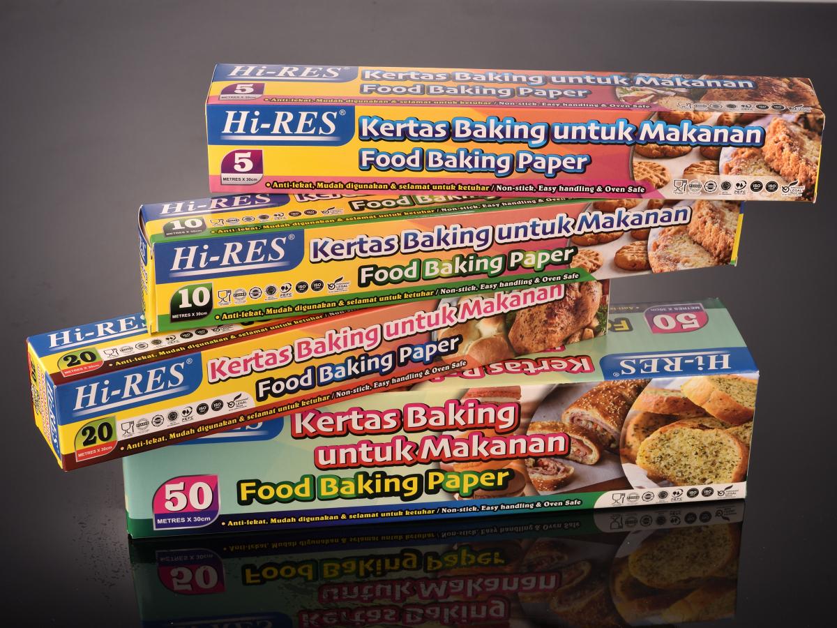 [HALAL] Baking Paper Non-Stick Microwave Oven Cook Tools ( Kertas Minyak ) Kertas Kek 5M 10M 20M 50M