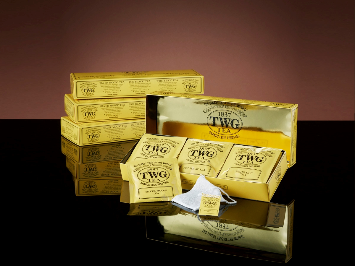 TWG Moon & Sky Tea Selection (Silver Moon Tea,1837 Black Tea, White Sky Tea) (15 x 2.5g Teabags)
